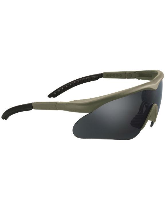 SWISS EYE Raptor Schutzbrille Schießbrille Augenschutz mit 3 Gläsern OLIV.