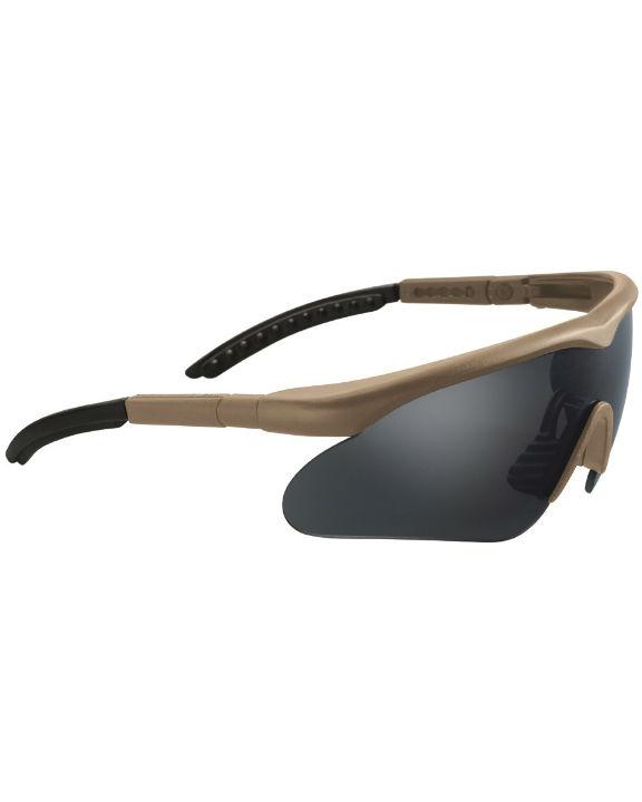 SWISS EYE Raptor Schutzbrille Schießbrille Augenschutz mit 3 Gläsern COYOTE.