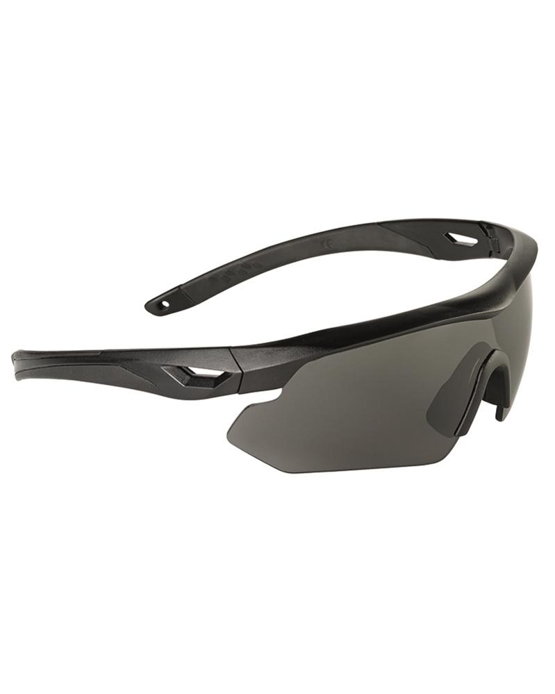 SWISS EYE NIGHTHAWK Schutzbrille Schießbrille Augenschutz mit 3 Gläsern.