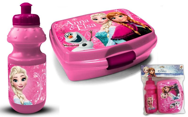 Eiskönigin Brotdose Lunchbox Brotbox mit Trinkflasche Schule Kindergarten Disney