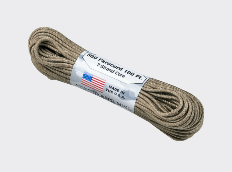 Original Army Paracord Cort 550 LBS (250kg) Cord 7 Strang 30,84 m (100ft) COYOTE