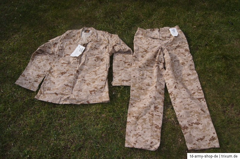 Original Marpat USMC BDU Desert Uniform Set . Size:Medium/Long. Neu mit Etikett.