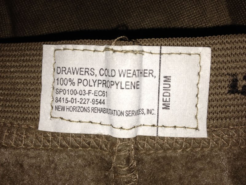 Original Army Cold Weather Hose Unterhose DRAWERS. Size:MEDIUM.