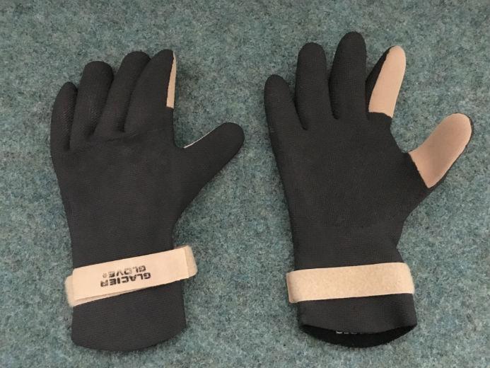 GLACIER Gloves Handschuhe Schwarz Sand Tan. Size:Large.