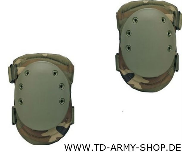 Original ARMY HATCH Knee Pads Woodland. Size:One Size. NEU.