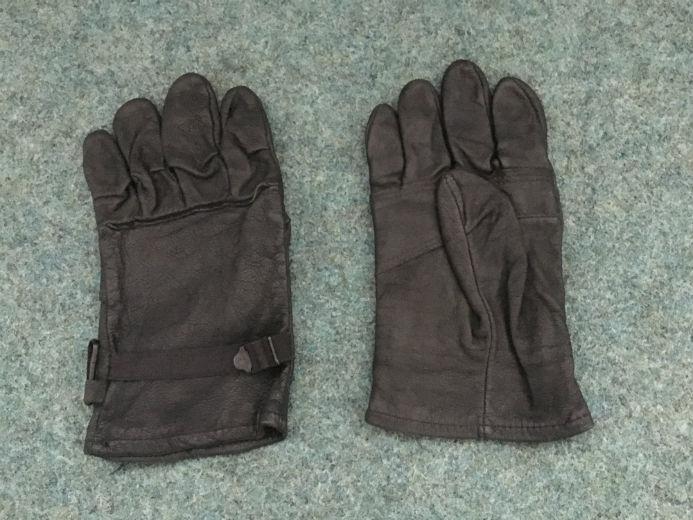 Original Army Leder Leather Gloves Handschuhe Schwarz Black. Size:4.