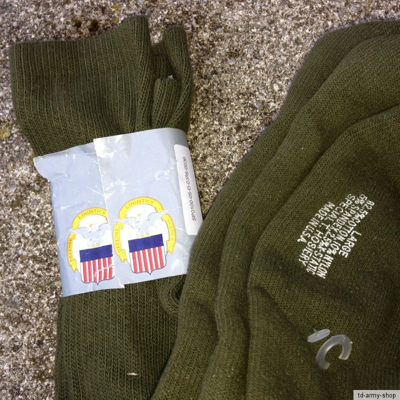 Original ARMY Socks Socken Olive Grün Socken 1 Packung(2Stück). Size:Large.
