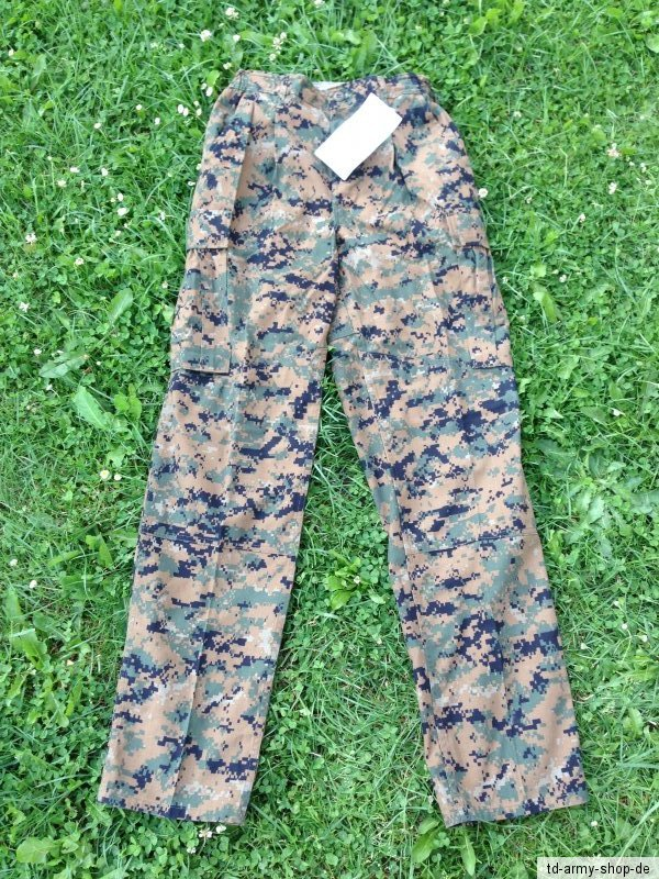 Original Marpat USMC Woodland Uniform Hose Pants Trousers.Size:Small/Long. NEW.