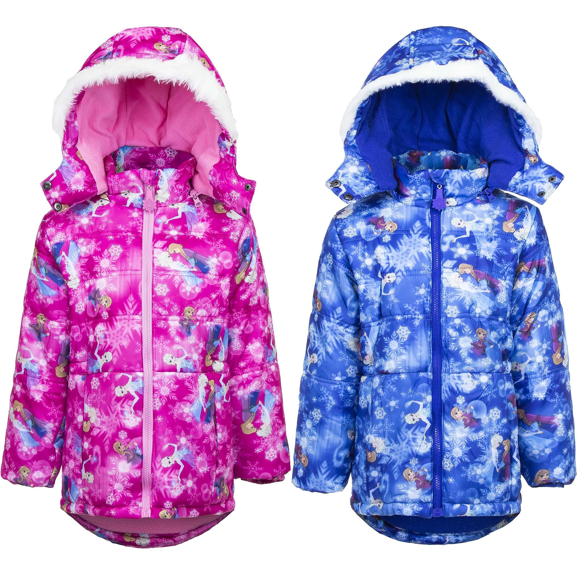 Frozen Winter Disney Jacke Jacket Mädchen mit Kapuze Parka Mantel 4-8 Jahre