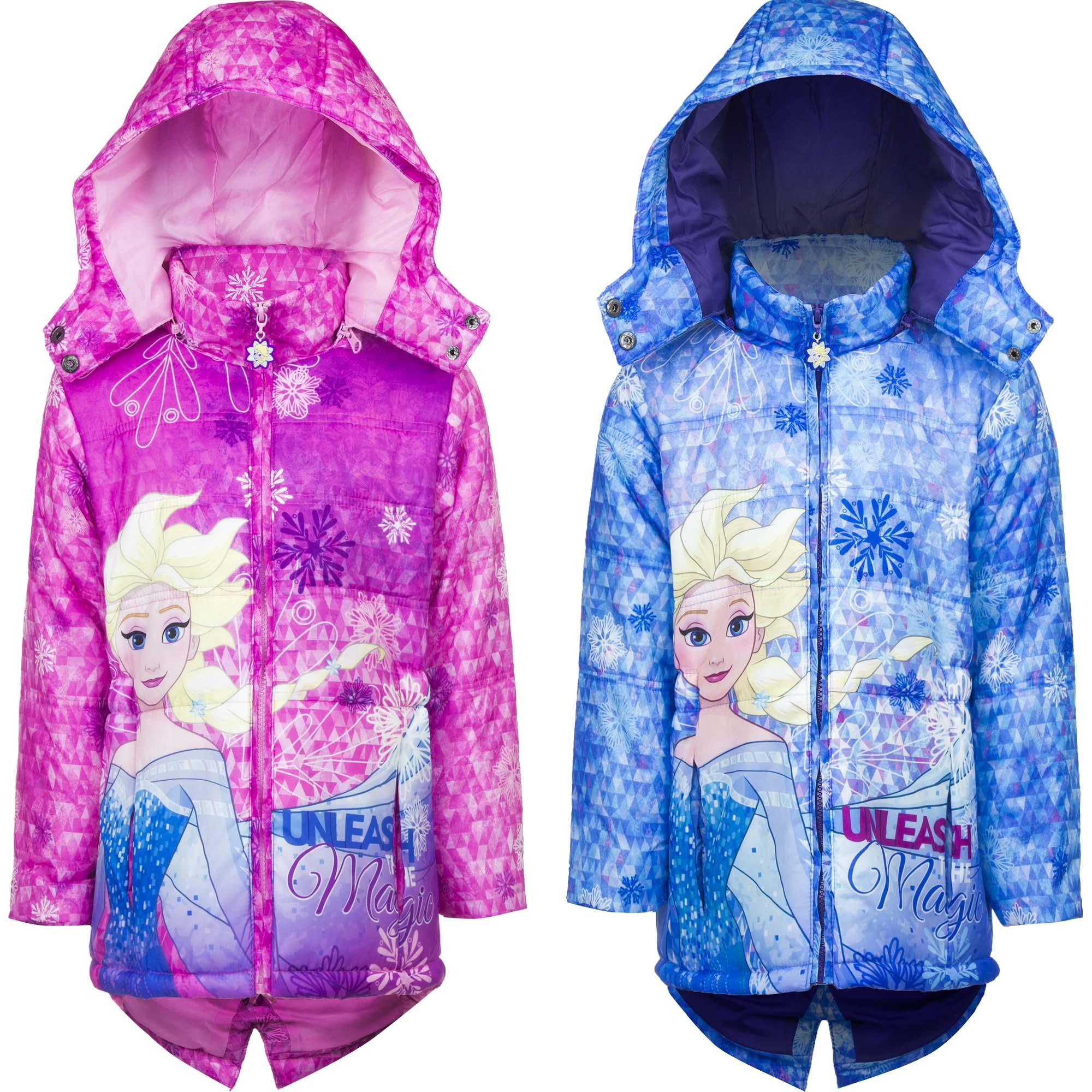 Eiskönigin - Frozen Winterjacke Mädchen mit Kapuze Parka Jacke Mantel 4-8 Jahre
