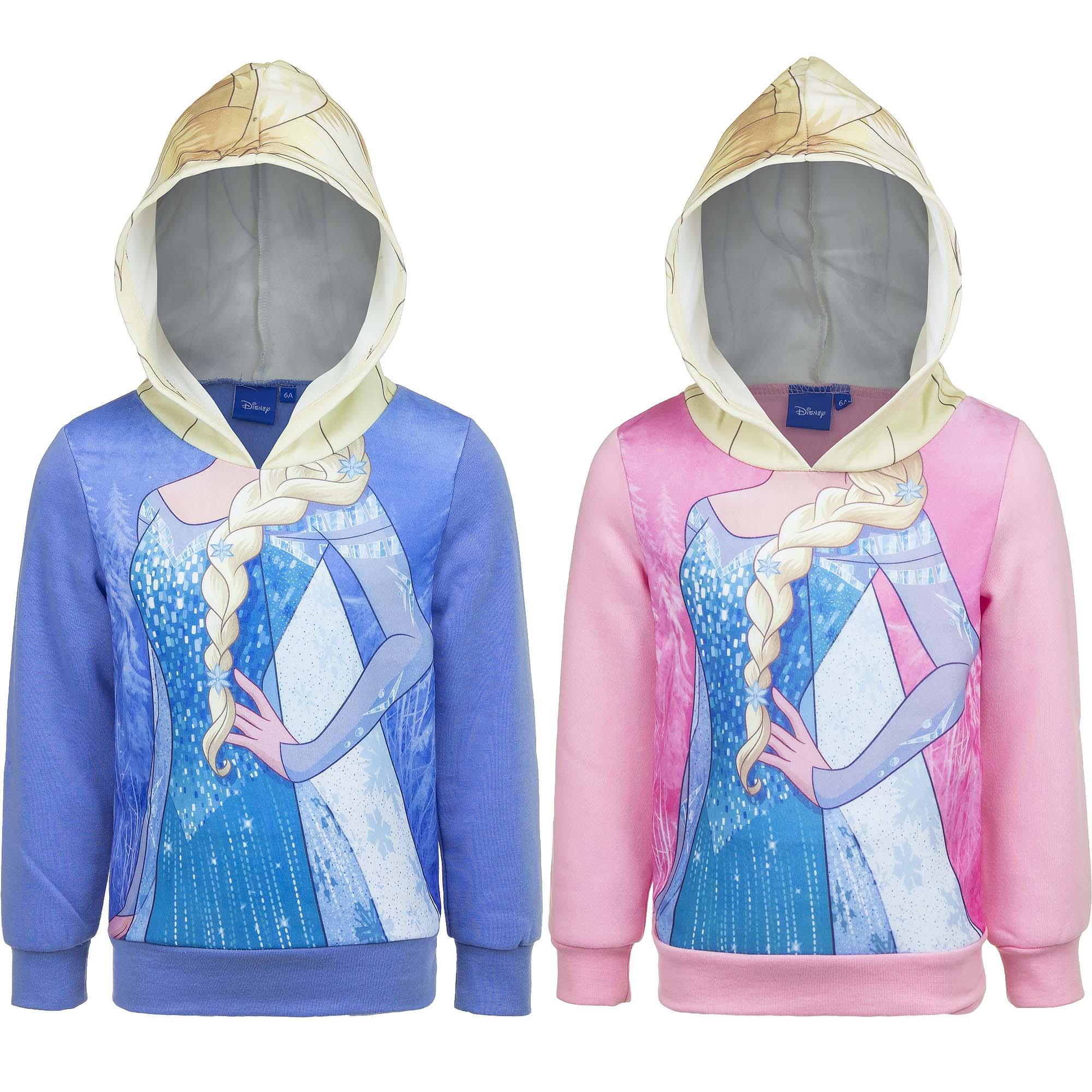 Eiskönigin Frozen Disney Sweatshirt Pullover Mädchen mit Kapuze 4-8 Jahre