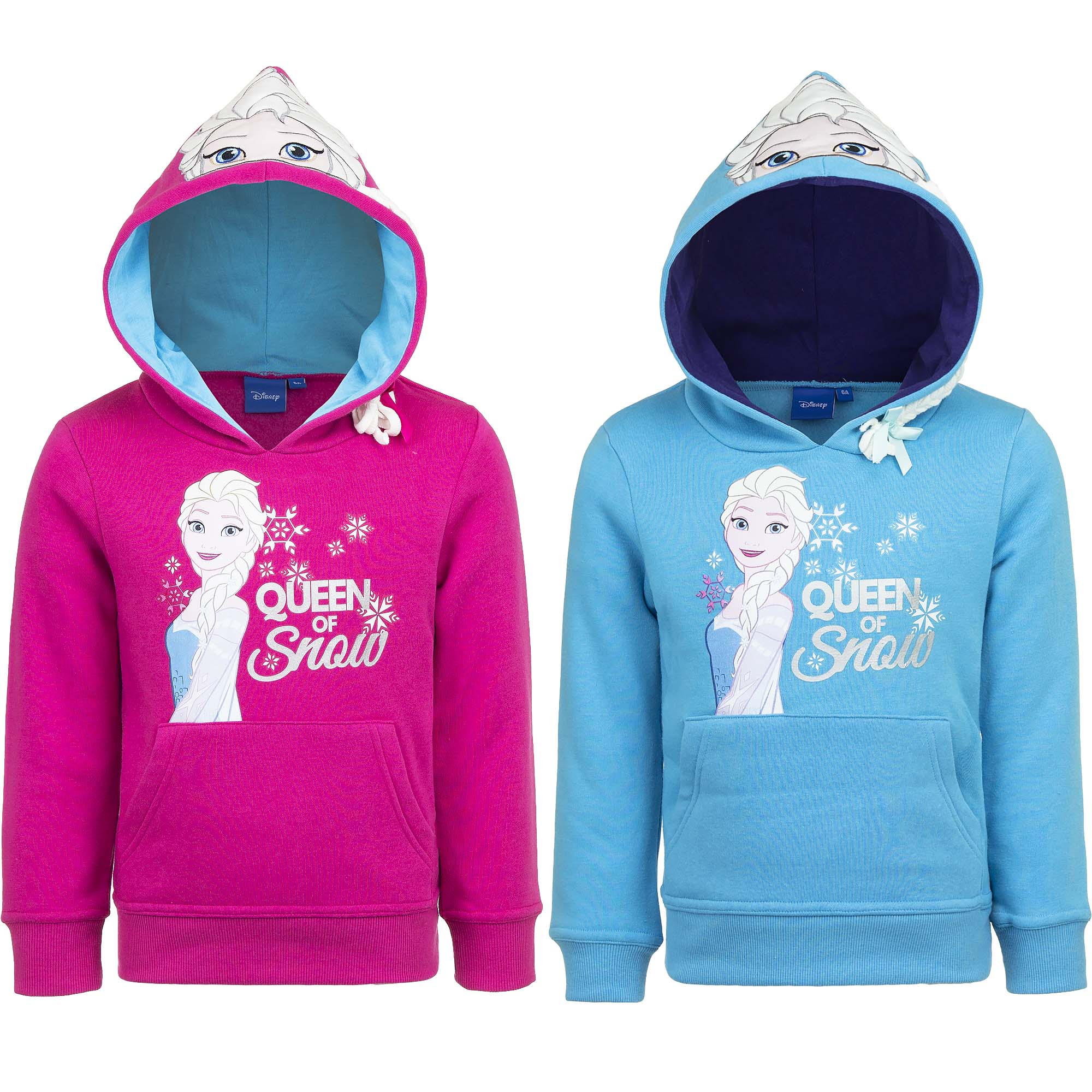 Eiskönigin Frozen Disney Pullover Sweatshirt Mädchen mit Kapuze 4-8 Jahre