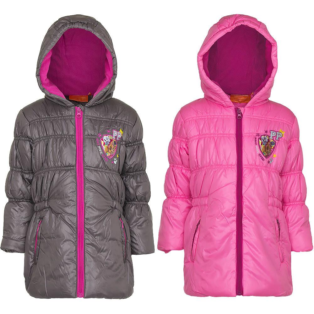 Paw Patrol Winterjacke Mädchen mit Kapuze Parka Jacke Mantel 3-6 Jahre