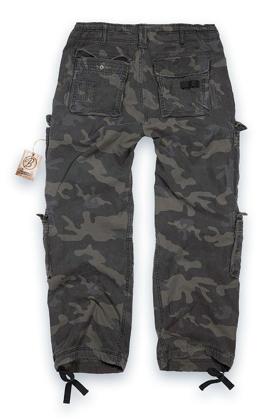 Brandit Herren Hose PURE VINTAGE Men Cargo Trousers DarkCamo.