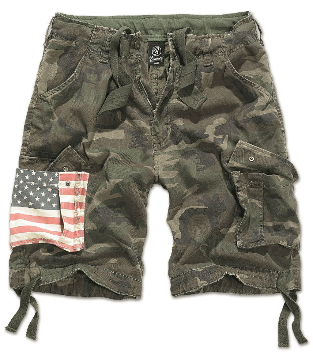 BRANDIT Shorts Urban Legend Stars & Stripes kurz Hose Bermuda 2014/10 Woodland.