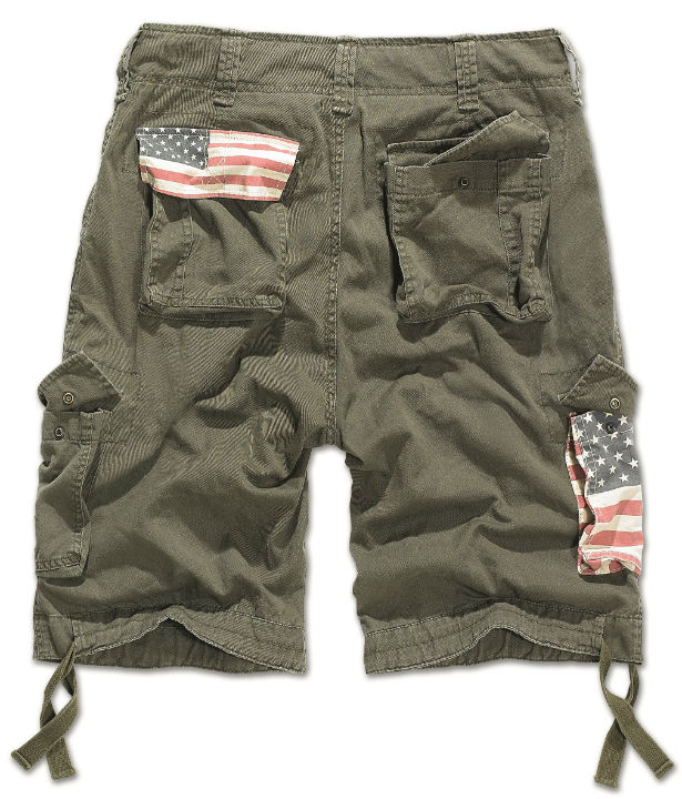 BRANDIT Shorts Urban Legend Stars & Stripes kurz Hose US Bermuda 2014/1 OLIV.