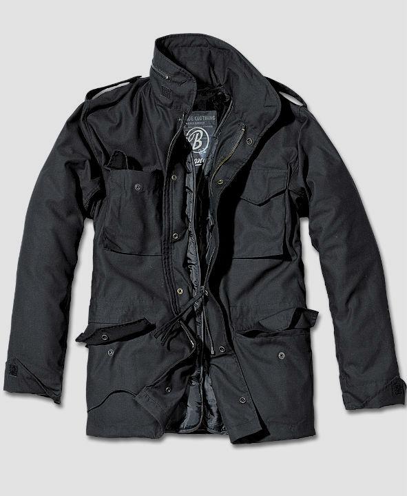 Brandit M65 Standard Feldjacke Schwarz Jacket Parka US Style Jacke mit Futter.