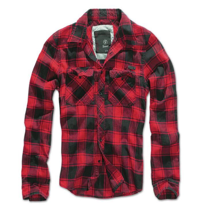 BRANDIT CHECK SHIRT Kariertes  Freizeithemd Hemd Karo Red/Black 4002-41.