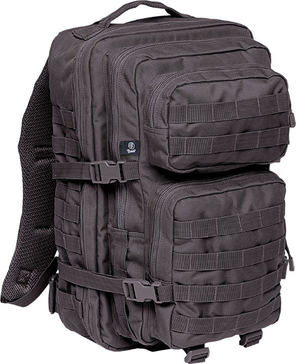 Brandit US Cooper PACK Schwarz Backpack Rucksack LARGE Groß ARMY BLACK.