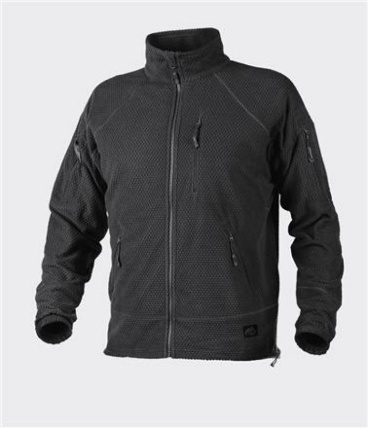 Helikon-Tex ALPHA TACTICAL Jacke Jacket Grid Fleece Schwarz Black BL-ALT-FG-01.