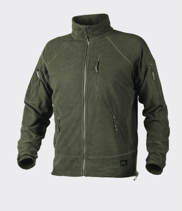 Helikon-Tex ALPHA TACTICAL Jacket Jacke Grid Fleece Olive Green BL-ALT-FG-02.