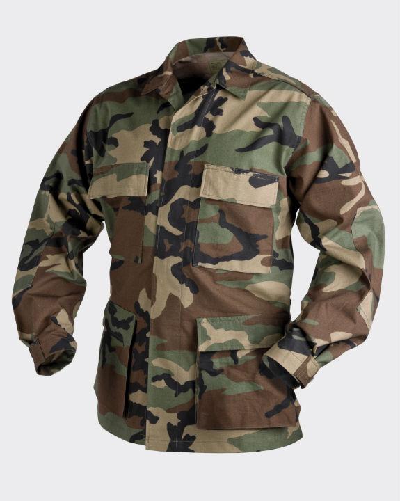 HELIKON-TEX BDU Jacke Jacket PolyCotton Ripstop US Woodland BL-BDU-PR-03.