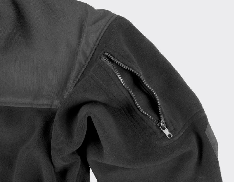 HELIKON-TEX CLASSIC ARMY Jacket Fleece Black Schwarz BL-CAF-FL-01.