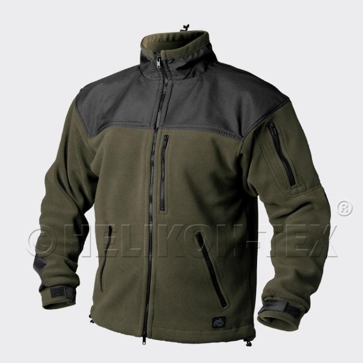 HELIKON-TEX CLASSIC ARMY Jacket Fleece Olive Green/Black BL-CAF-FL-16 Helikon.