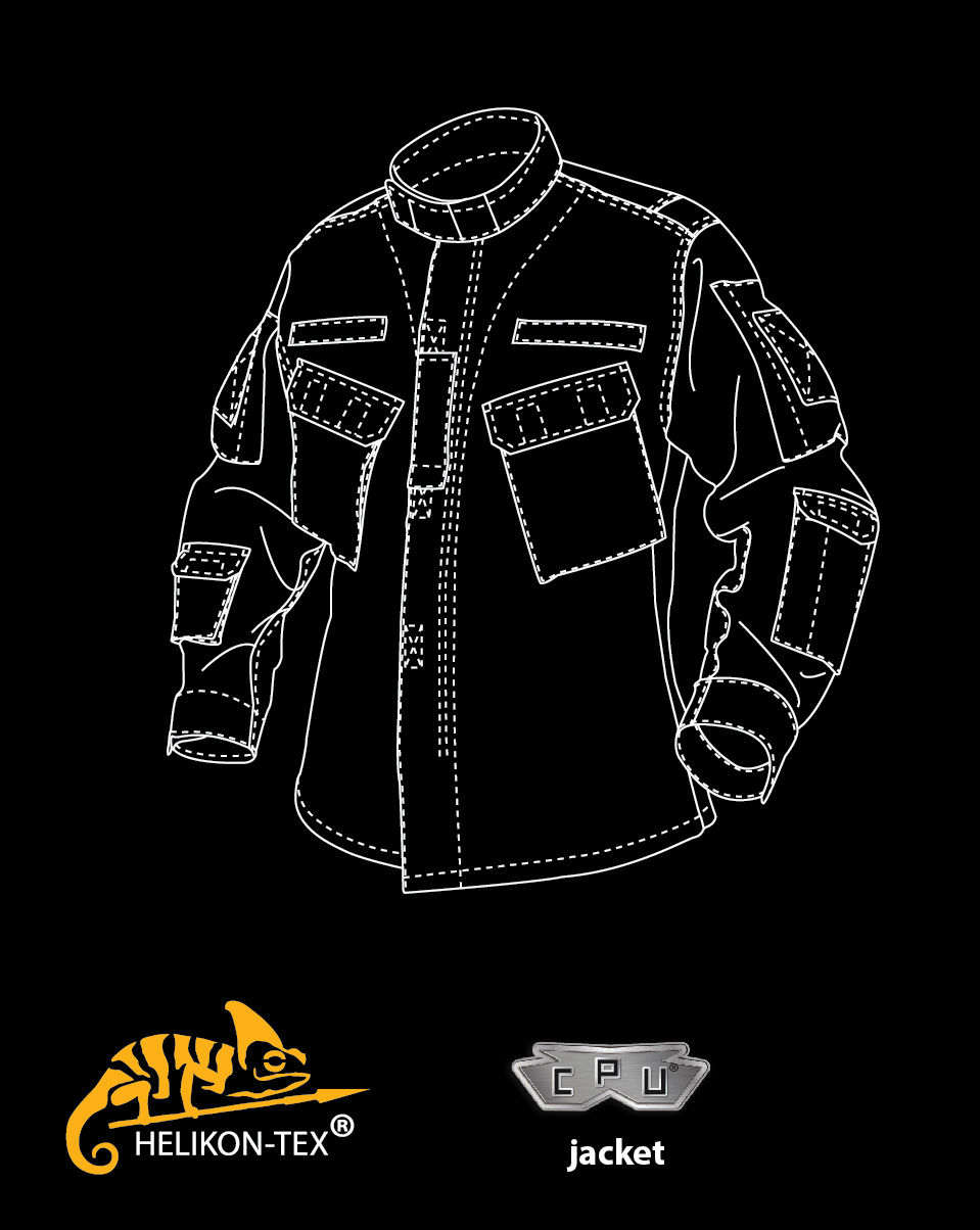 HELIKON-TEX C P U Jacket Jacke Cotton Ripstop KHAKI BL-CPU-CR-13 Khaki.