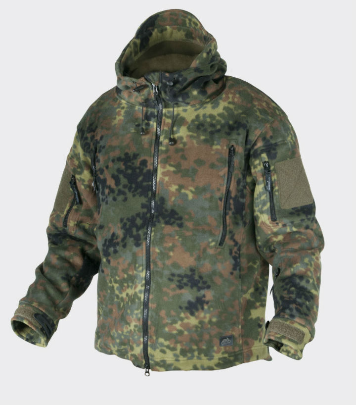 HELIKON-TEX PATRIOT Double Fleece 390g Flecktarn Jacke BL-PAT-HF-23.
