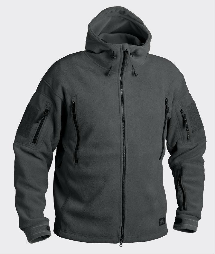 HELIKON-TEX PATRIOT Fleece 390g Jacke Shadow Grey Jacket Outdoor BL-PAT-HF-35.