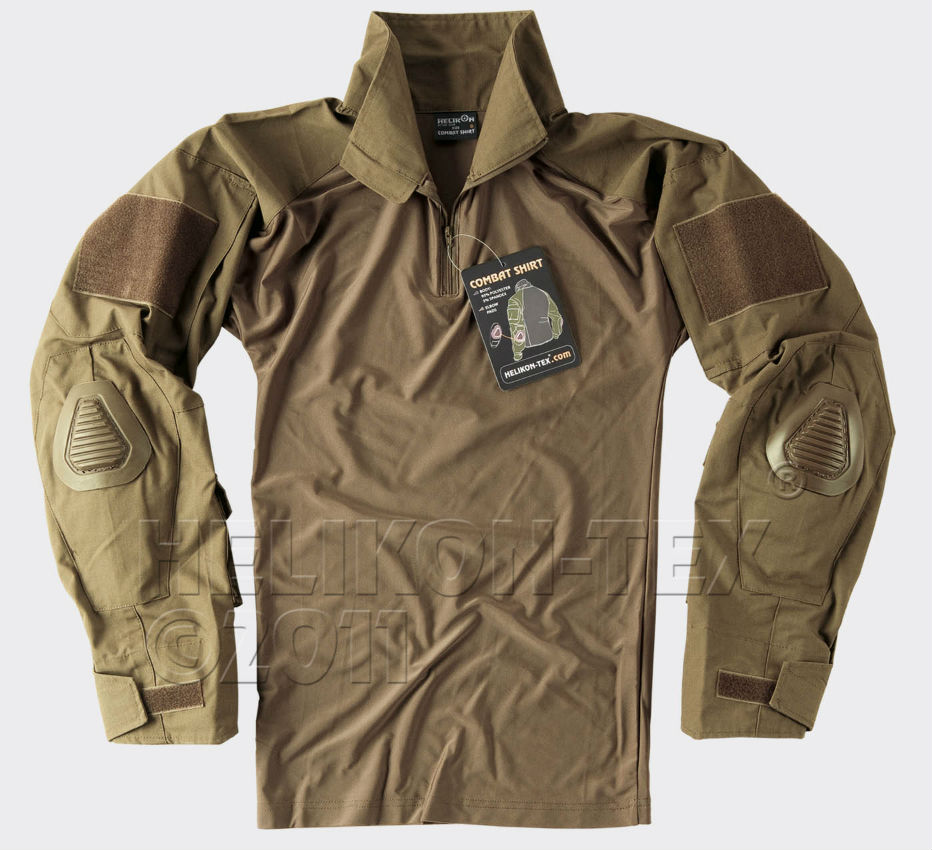 HELIKON COMBAT SHIRT Coyote with Elbow Pads TACTICAL USMC Marpat KO-CS2-PO-11.