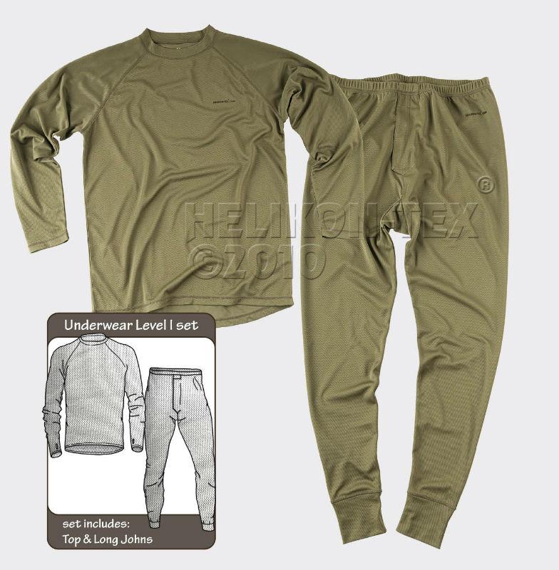 HELIKON-TEX Underwear (full set) US Olive Green  Level 1 Gen III KP-UN1-PO-02.