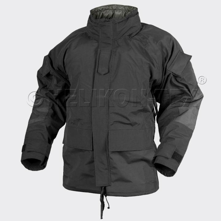 HELIKON-TEX ECWCS Gen II Jacket H2O Proof Black Parka Wasserfest KU-EC2-NL-01.