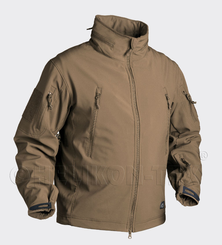 Helikon GUNFIGHTER Jacket Shark Skin Windblocker COYOTE KU-GUN-FM-11.