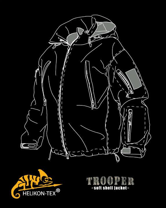 HELIKON-TEX Helikon Trooper Soft Shell Jacket Jacke CAMOGROM KU-TRP-NL-14.