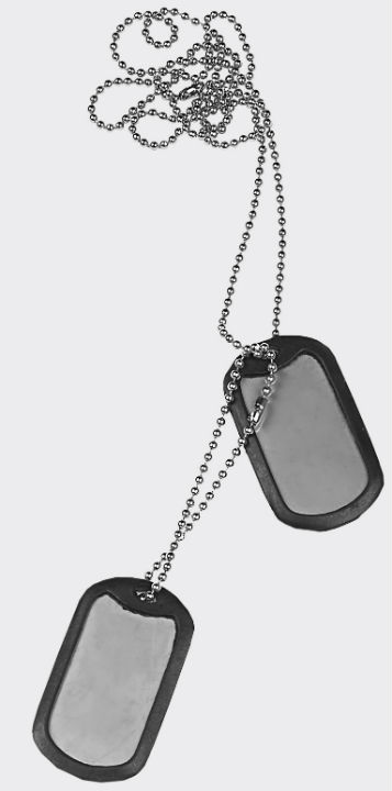 Helikon Dog Tag Stainless Steel NS-NS1-SS-15 Marpat .