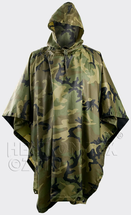 HELIKON-TEX Helikon Poncho US Woodland PO-MUS-PO-03. Size:One for All. New.