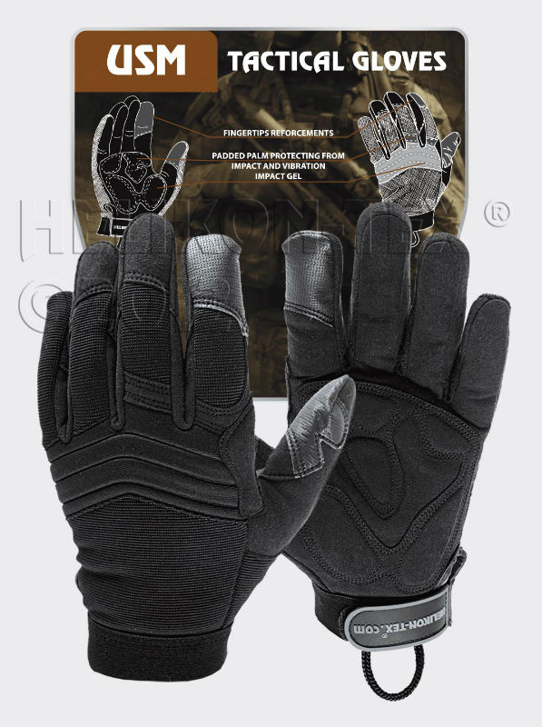HELIKON-TEX U.S. Model Gloves Black Tactical Handschuhe Helikon RK-USM-PO-01.