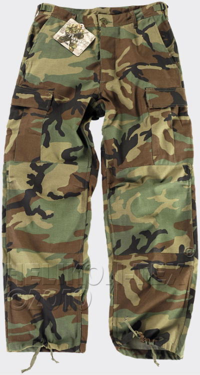 HELIKON-TEX BDU Trousers Cotton Ripstop US Woodland Hose Pants SP-BDU-CR-03.