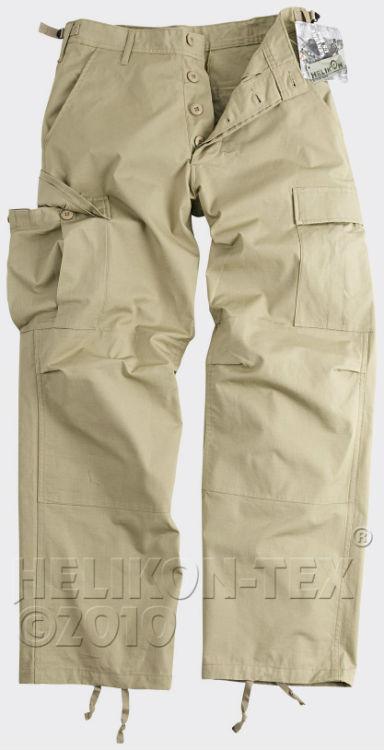 HELIKON-TEX BDU Trousers Cotton Ripstop Khaki Hose Pants SP-BDU-CR-13.