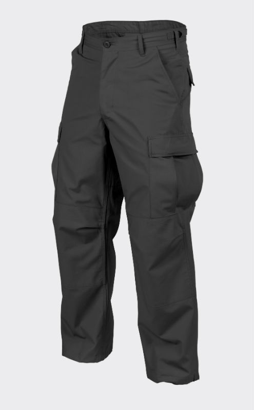HELIKON-TEX BDU Hose Trousers PolyCotton Black Schwarz SP-BDU-PR-01.