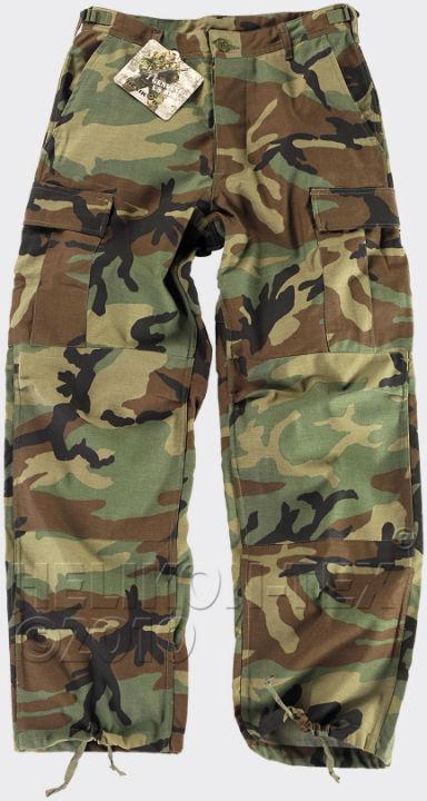 HELIKON-TEX BDU Trousers PolyCotton Ripstop US Woodland Hose Pants SP-BDU-PR-03.