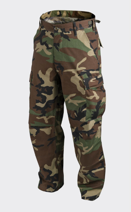 HELIKON-TEX BDU Trousers PolyCotton Ripstop US Woodland Hose Pants SP-BDU-PR-03.