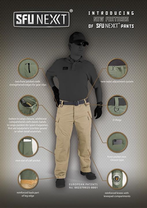 Helikon SFU NEXT® Hose Trousers Cotton Ripstop Khaki SP-SFN-CR-13.