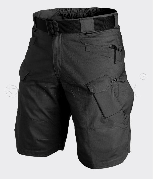 HELIKON-TEX URBAN TACTICAL SHORTS PolyCotton Ripstop Black Schwarz SP-UTK-PR-01.