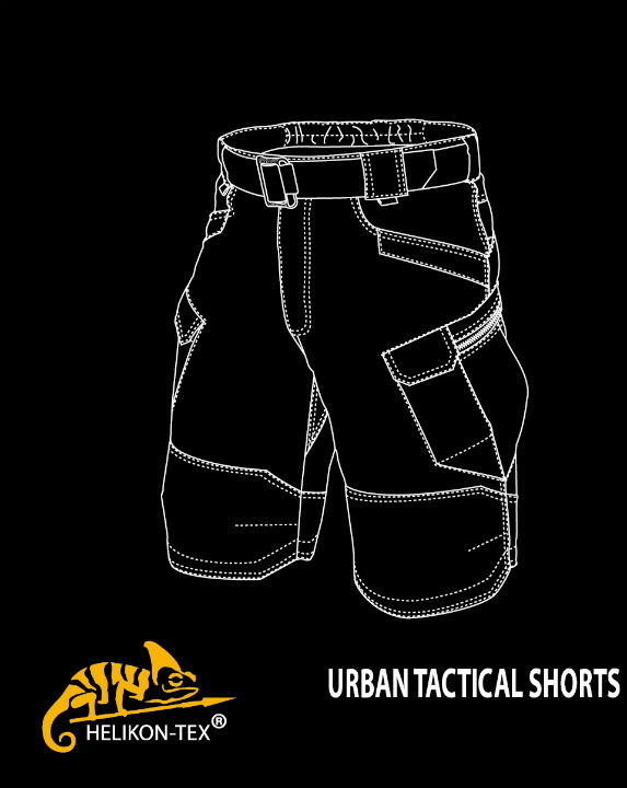 HELIKON-TEX URBAN TACTICAL SHORTS PolyCotton Ripstop Navy Blue SP-UTK-PR-37.