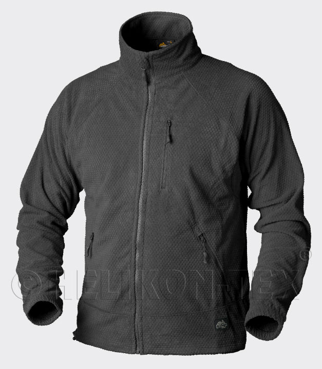 HELIKON-TEX ALPHA Jacket Grid Fleece Black Schwarz BL-ALP-FG-01 Helikon Jacke.