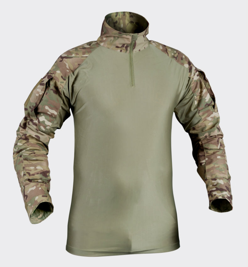 HELIKON-TEX COMBAT SHIRT Camogrom with Elbow Pads TACTICAL UBACS KO-CS2-PO-14.
