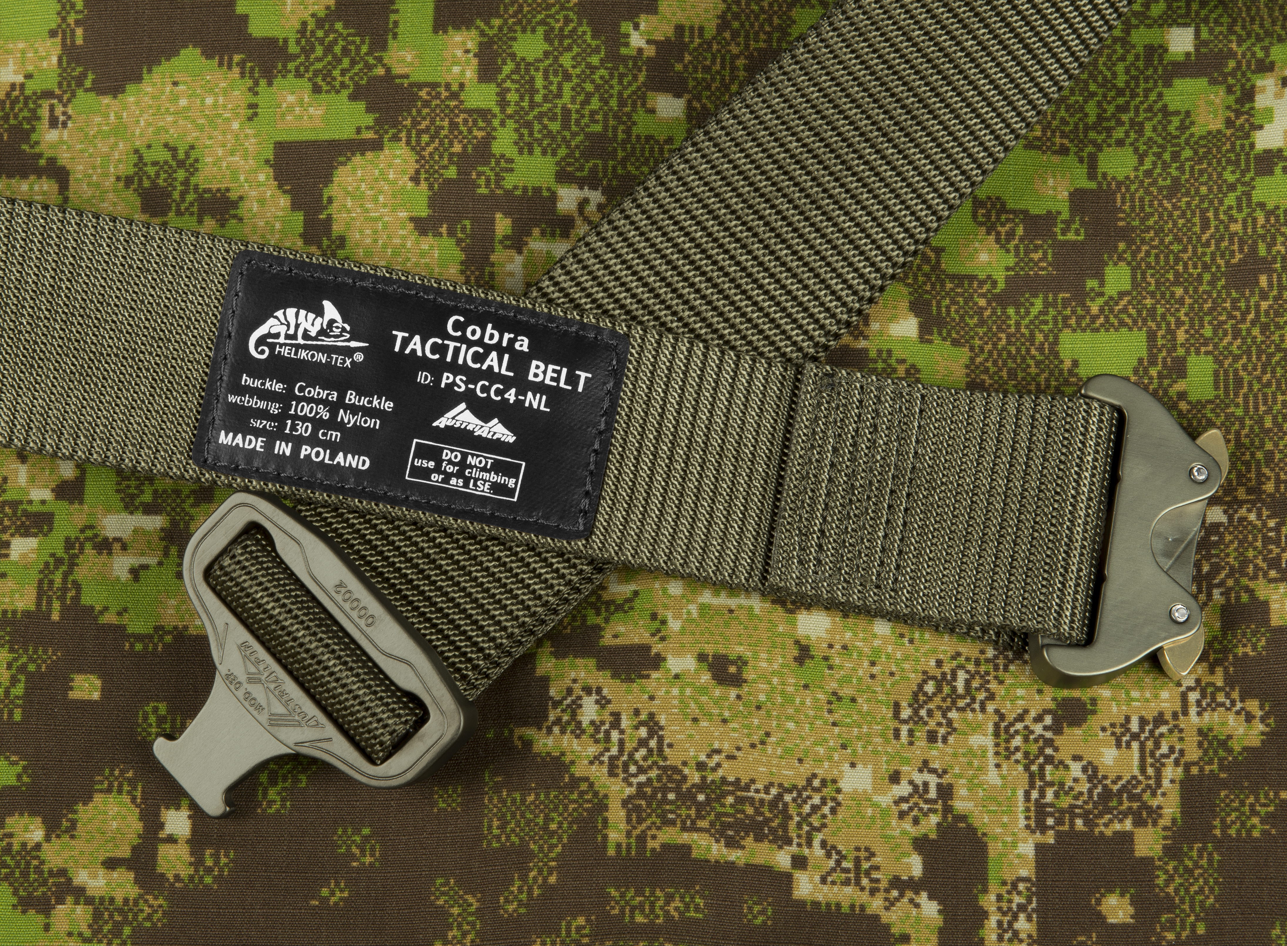 HELIKON-TEX COBRA (FC45) Tactical Belt OLIVE GREEN Gürtel. Size: L (130cm).